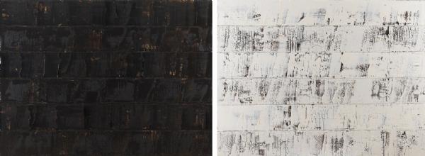 Ebony and Ivory Dual Paintings T.Yb 121x164cm 2012