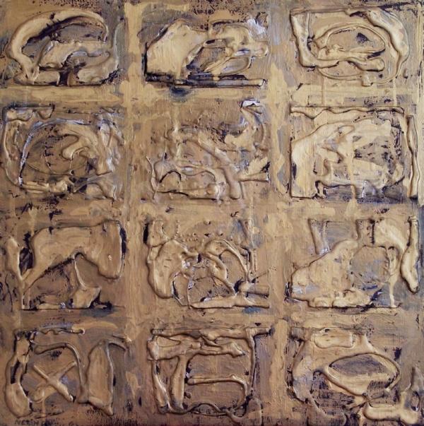 Isimsiz T. üzeri Balmumu varak y.b 60x60cm