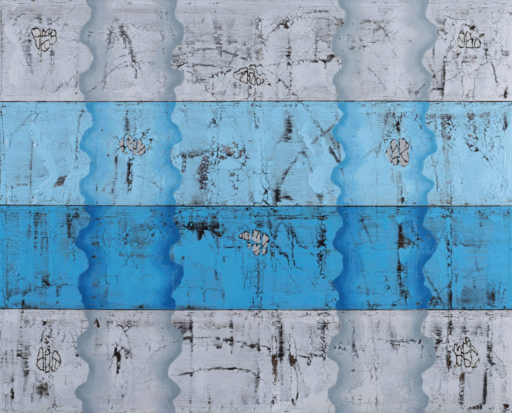Mystical Blue T.yb 105x130cm 2015
